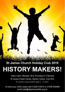 2019 A4 Holiday Club Poster